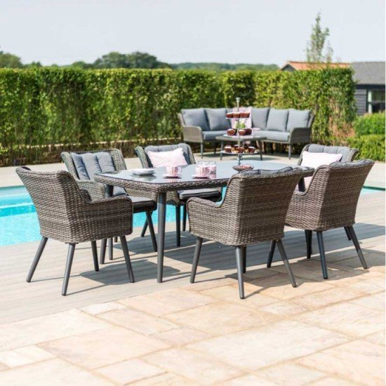 Florence 6 Seat Rectangular Dining Set