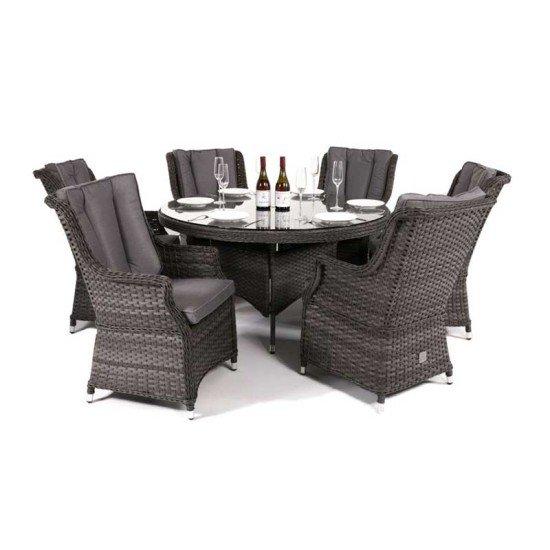 Victoria 6 Seat Round Dining Set